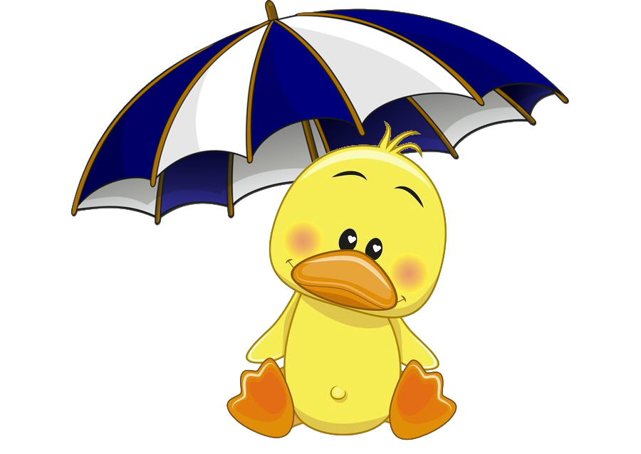 Duck-and-umbrella-transparrent